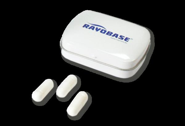 レヨベースカプセルのふた付き容器 (Klappdose Rayobase)